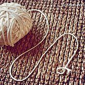 Материалы для творчества ручной работы. Ярмарка Мастеров - ручная работа 3024L шнур льняной отбелённый. Handmade.