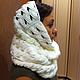 Шарфы и шарфики ручной работы. Ярмарка Мастеров - ручная работа. Купить Снуд Снежок. Handmade. Белый, снуд вязаный