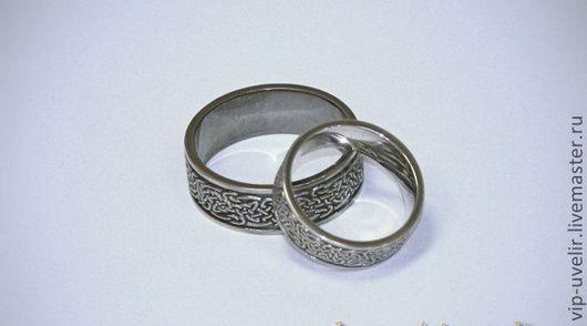 """Кольца ручной работы. Ярмарка Мастеров - ручная работа. Купить Обручальные кольца """"Кельтские"""" из белого золота 585 пробы с покрытием. Handmade."""