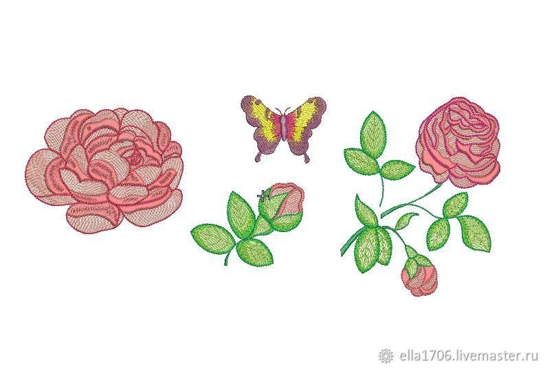 """Дизайн машинной вышивки """"Набор с розами"""", Схемы для вышивки, Сальск,  Фото №1"""