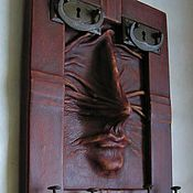 Для дома и интерьера handmade. Livemaster - original item Wall-mounted housekeeper made of leather