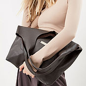 Сумки и аксессуары handmade. Livemaster - original item Soft brown bag - Bag Pack - large size. Handmade.