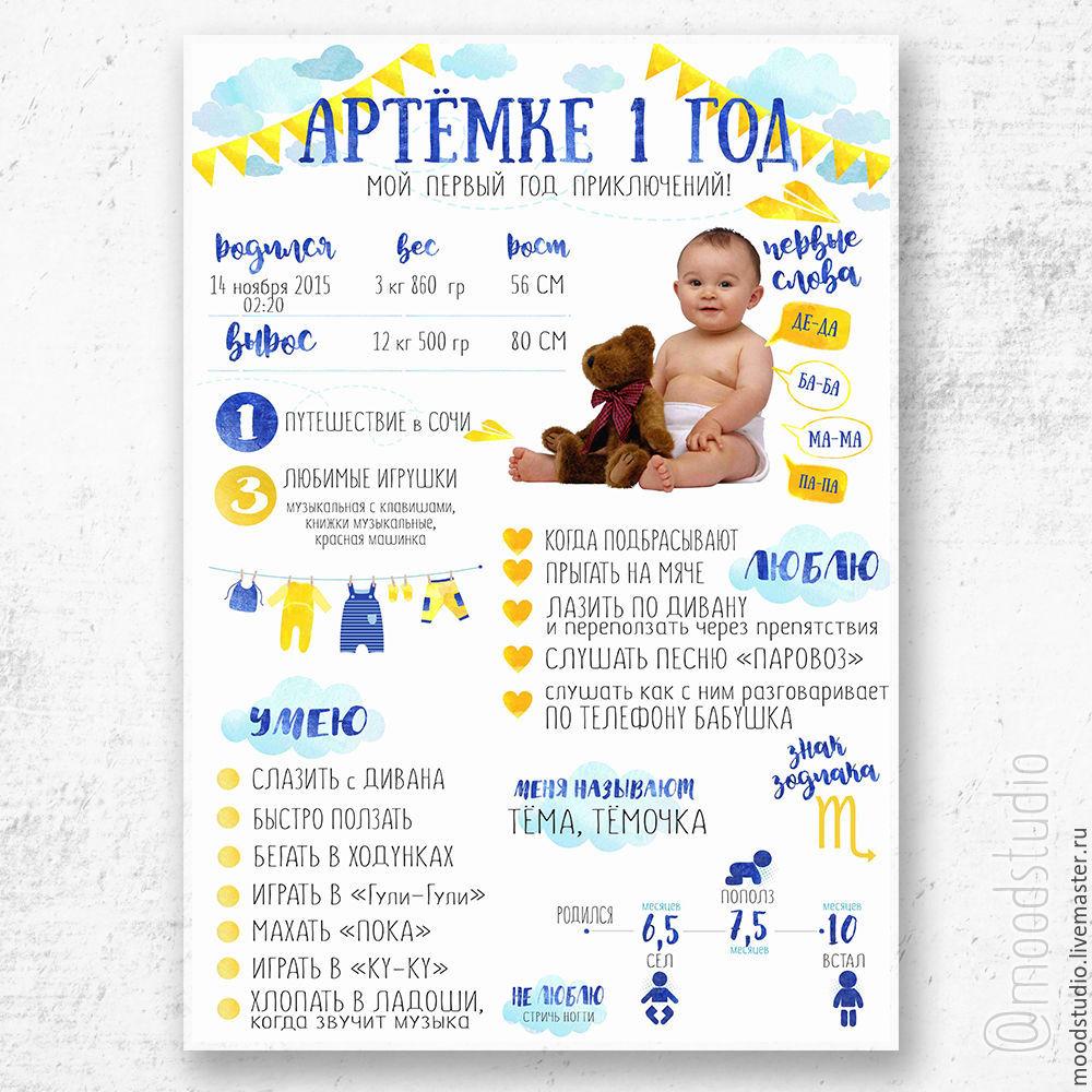 Постер достижений для мальчика шаблон