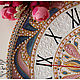 """Часы для дома ручной работы. Часы интерьерные """"Маргрит"""". Ия Лямкина (Coloriya). Интернет-магазин Ярмарка Мастеров. Часы настенные"""