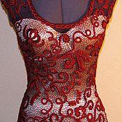 "Одежда ручной работы. Ярмарка Мастеров - ручная работа Топ  ""Lady in Red"".. Handmade."