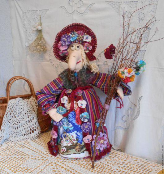 Кухня ручной работы. Ярмарка Мастеров - ручная работа. Купить Собирала я в саду цветочки. Кукла на чайник. Баба Яга .. Handmade.
