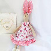 Куклы и игрушки ручной работы. Ярмарка Мастеров - ручная работа Тильда - заяц (Цветочек). Handmade.