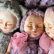 Куклы и игрушки ручной работы. Ярмарка Мастеров - ручная работа Тедди-долл спящая Зайка. Handmade.