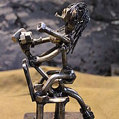 Приколы ручной работы. Ярмарка Мастеров - ручная работа Фигурка из болтов и гаек / металлическая статуэтка / подарок 18. Handmade.
