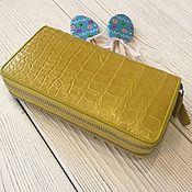 Сумки и аксессуары handmade. Livemaster - original item Clutch bag in crocodile leather with two zippers IMA0037Y4. Handmade.