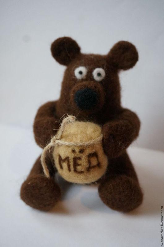 Игрушки животные, ручной работы. Ярмарка Мастеров - ручная работа. Купить Мишка который любит мёд. Handmade. Коричневый, медвежонок