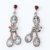 Украшения handmade. Livemaster - original item Earrings with blue Topaz.. Handmade.