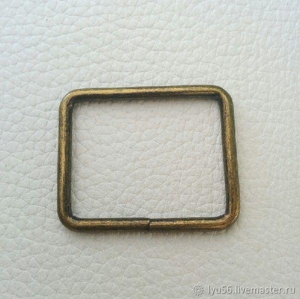 Рамка 38х30 (3,5) мм антик, Фурнитура для сумок, Москва,  Фото №1