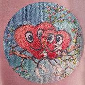 Материалы для творчества handmade. Livemaster - original item Embroidered blank picture loving hearts insert. Handmade.