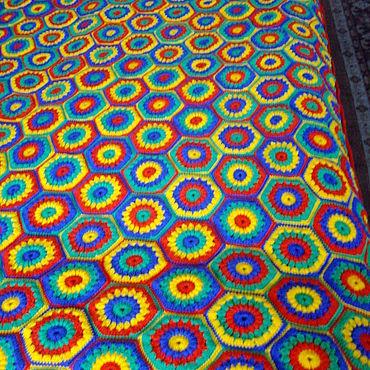"""Текстиль ручной работы. Ярмарка Мастеров - ручная работа Пледы:"""" Созвездие """". Handmade."""