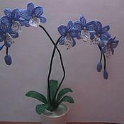 Подарки к праздникам ручной работы. Ярмарка Мастеров - ручная работа Орхидея из бисера. Handmade.