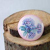 Украшения handmade. Livemaster - original item Brooch Hydrangea. Wooden brooch handmade. Painting.. Handmade.