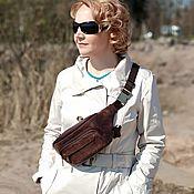 Сумки и аксессуары handmade. Livemaster - original item Waist bag leather brown Ceres Mod. C80-622. Handmade.