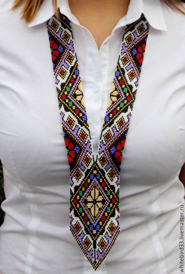 Гайтан из бисера фото