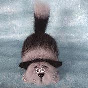 Мягкие игрушки ручной работы. Ярмарка Мастеров - ручная работа Кот Пушистый Полосатик мягкая игрушка крючком кот вязаный из мохера. Handmade.