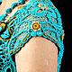 """Платья ручной работы. платье  """"Солнце в бирюзе"""". Евгения  Лозовая (art-crochet). Интернет-магазин Ярмарка Мастеров. Цветочный"""