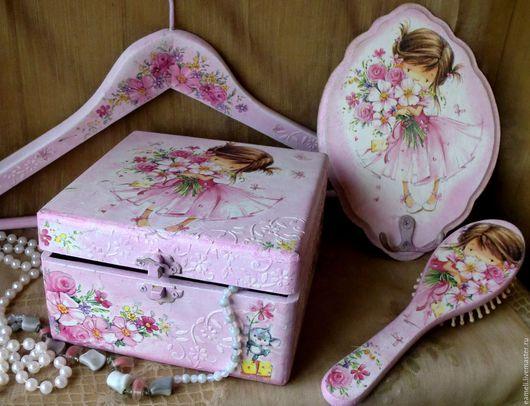 """Детская ручной работы. Ярмарка Мастеров - ручная работа. Купить """"Маленькая принцесса""""-комплект для девочки. Handmade. Розовый, принцесса"""