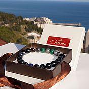 Украшения handmade. Livemaster - original item Men`s bracelet made of stones for Taurus!. Handmade.