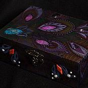 "Шкатулки ручной работы. Ярмарка Мастеров - ручная работа Шкатулка ""Royal Night Flower"".. Handmade."