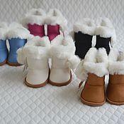 Сапожки для кукол зимние. Обувь для кукол 7,5 см