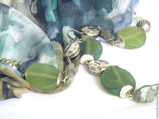 """Колье, бусы ручной работы. Ярмарка Мастеров - ручная работа. Купить Колье """"Леса Эсперансы"""". Handmade. Тёмно-зелёный, зеленый"""