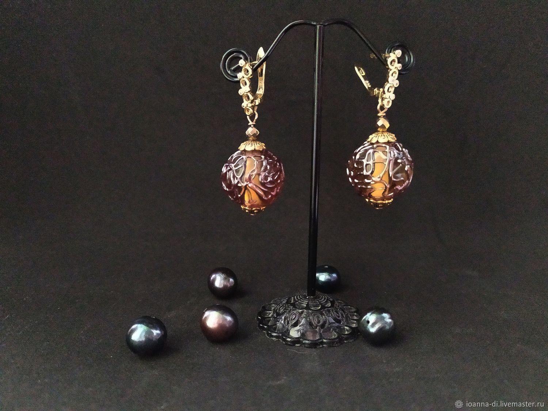 earrings: Stained glass, Earrings, Moscow,  Фото №1