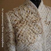 Одежда ручной работы. Ярмарка Мастеров - ручная работа Пальто в технике крейзи-вул. Handmade.