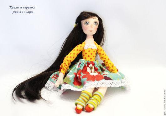 Коллекционные куклы ручной работы. Ярмарка Мастеров - ручная работа. Купить Брюнеточка 2. Handmade. Желтый, желтый цвет, проволока
