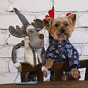 Для домашних животных, ручной работы. Ярмарка Мастеров - ручная работа Одежда для собак комбинезон Зимний. Handmade.