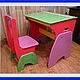 Мебель ручной работы. Детская парта и стульчик. Роман_К. Интернет-магазин Ярмарка Мастеров. Детский, стульчик, дерево