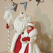 Большие ватные Дед Мороз и Снегурочка под елку 5