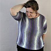 Одежда ручной работы. Ярмарка Мастеров - ручная работа пуловер Северное сияние. Handmade.