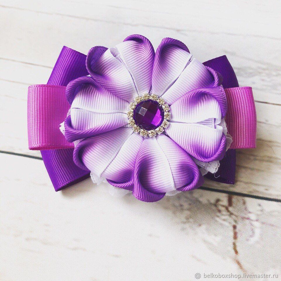 The bow of REP ribbons 'Provence', Hairpins, Moscow,  Фото №1