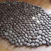 Для дома и интерьера ручной работы. Ярмарка Мастеров - ручная работа валяный коврик Камешки. Handmade.