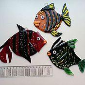 """Для дома и интерьера ручной работы. Ярмарка Мастеров - ручная работа Декор """" Рыбки"""". Handmade."""