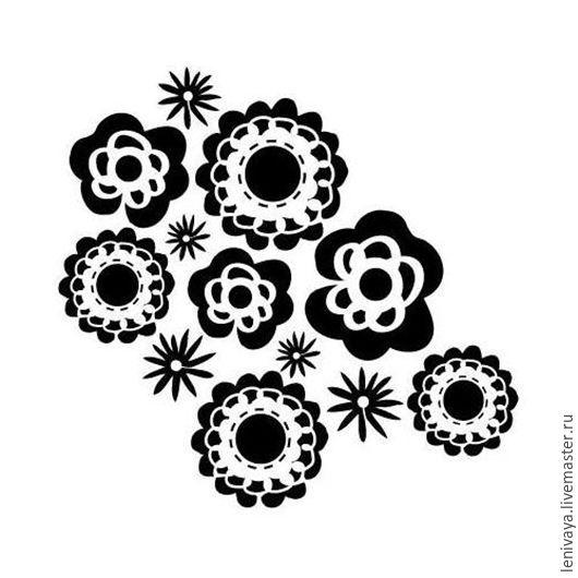 Декупаж и роспись ручной работы. Ярмарка Мастеров - ручная работа. Купить Трафарет-маска Wall Flowers, 15х15 см. Handmade.