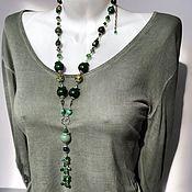 Украшения handmade. Livemaster - original item Long boho beads. the necklace made of natural stones. Handmade.
