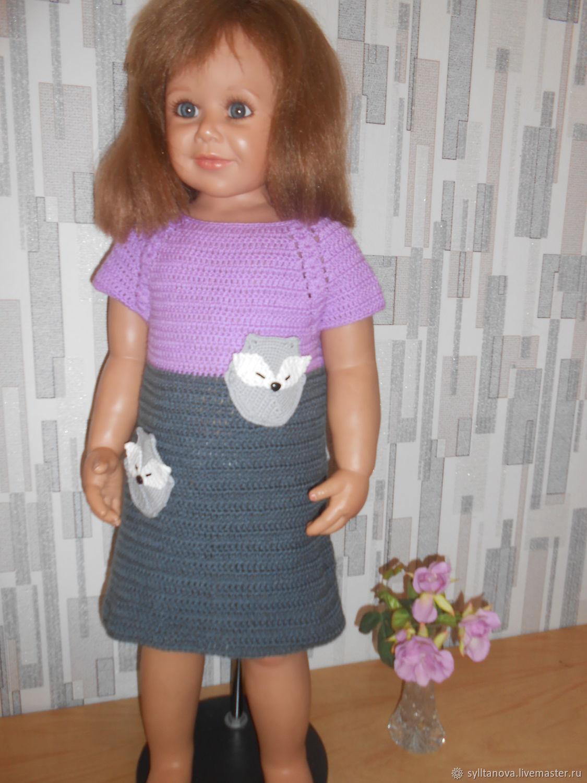 """Платье """"Серая лисичка"""""""