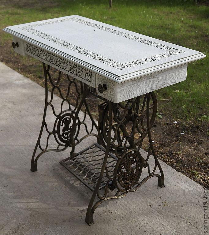 этого столик из швейной машинки зингер фото наделила