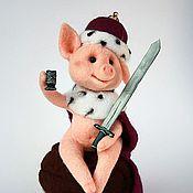 Куклы и игрушки ручной работы. Ярмарка Мастеров - ручная работа Тун Турулен, поросенок войлочный. Handmade.