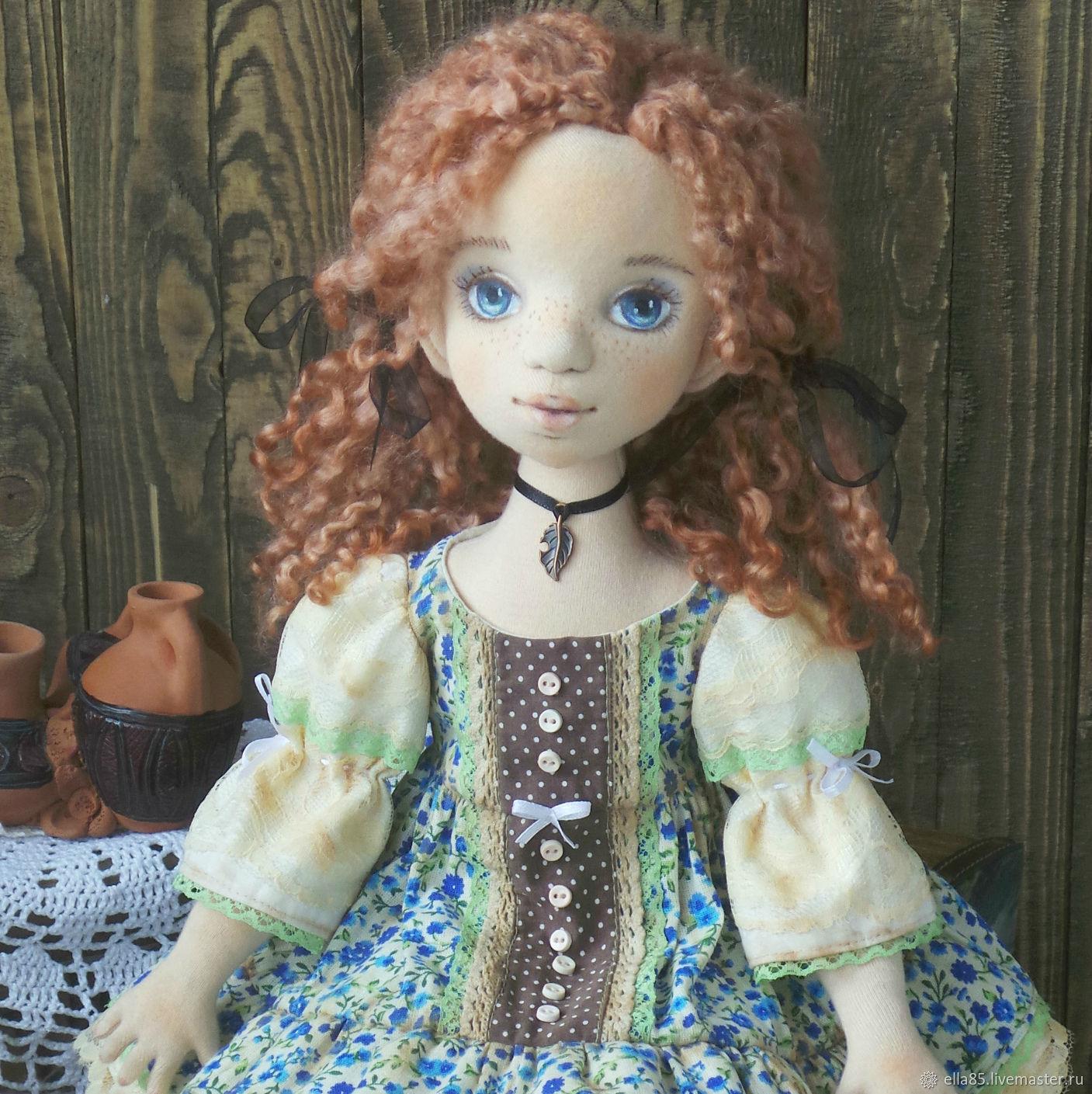 Коллекционные куклы ручной работы. Ярмарка Мастеров - ручная работа. Купить Текстильная кукла Варенька. Handmade. Текстильная кукла, хлопок