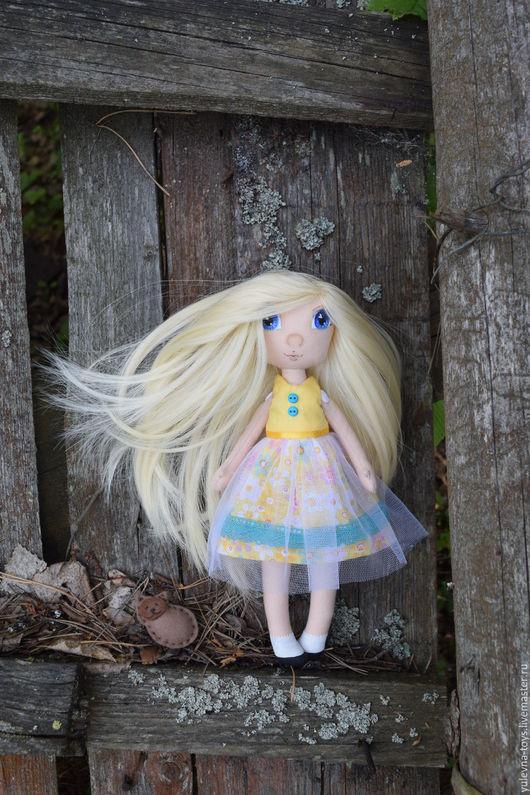 Коллекционные куклы ручной работы. Ярмарка Мастеров - ручная работа. Купить Текстильная кукла  Оленька, со сменными платьями. Handmade.