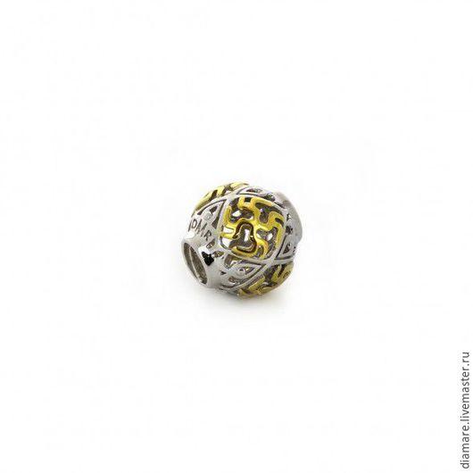 Арт. 05-0388. Серебряный шарм `Цветок папоротника`.