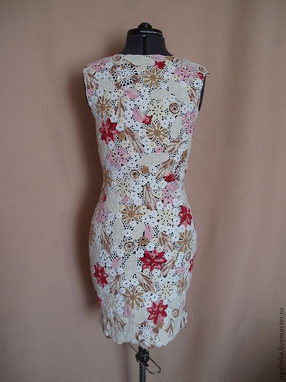 Вязание крючком цветов для платья