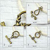 Материалы для творчества handmade. Livemaster - original item Toggle. Lock for jewelry Art.ZU07. Handmade.